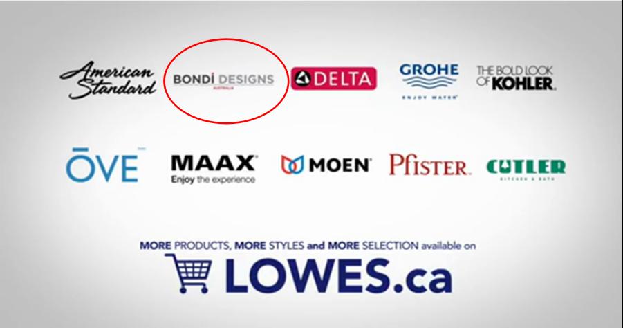 邦荻成功进驻全球第二大家居连锁Lowe`s,与科勒、摩恩等著名品牌同台竞技
