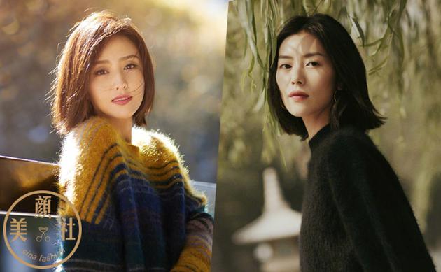 刘雯佟丽娅高级感短发 才是这个秋冬的最佳标配
