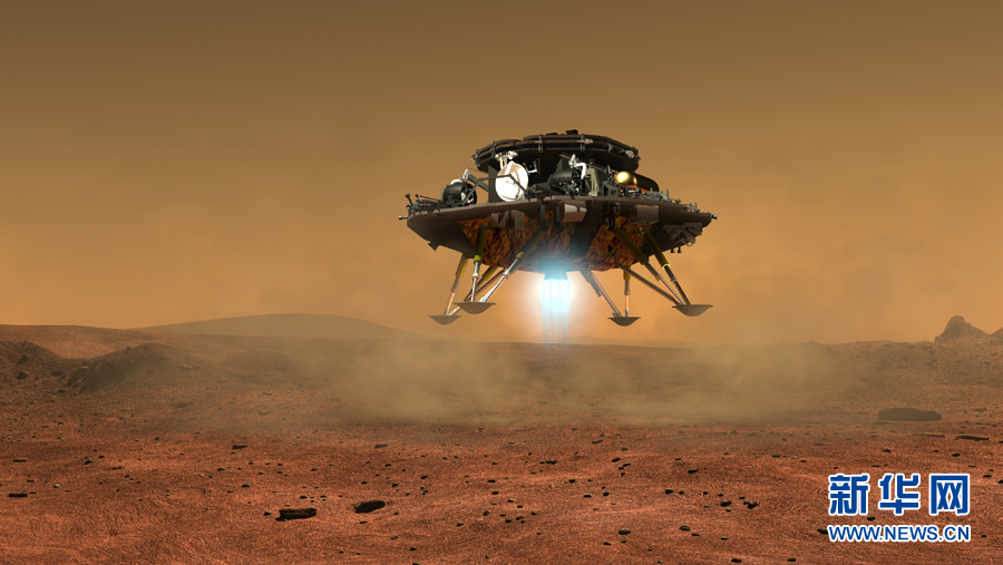 中国首个火星探测器和火星车外观设计构型首次公布